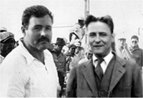 Hemingway and F Scott Fitzgerald