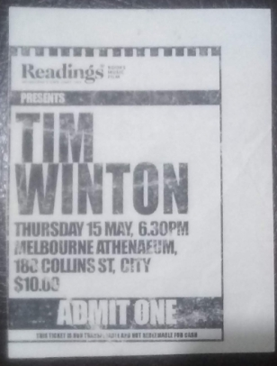 Tim Winton Reading
